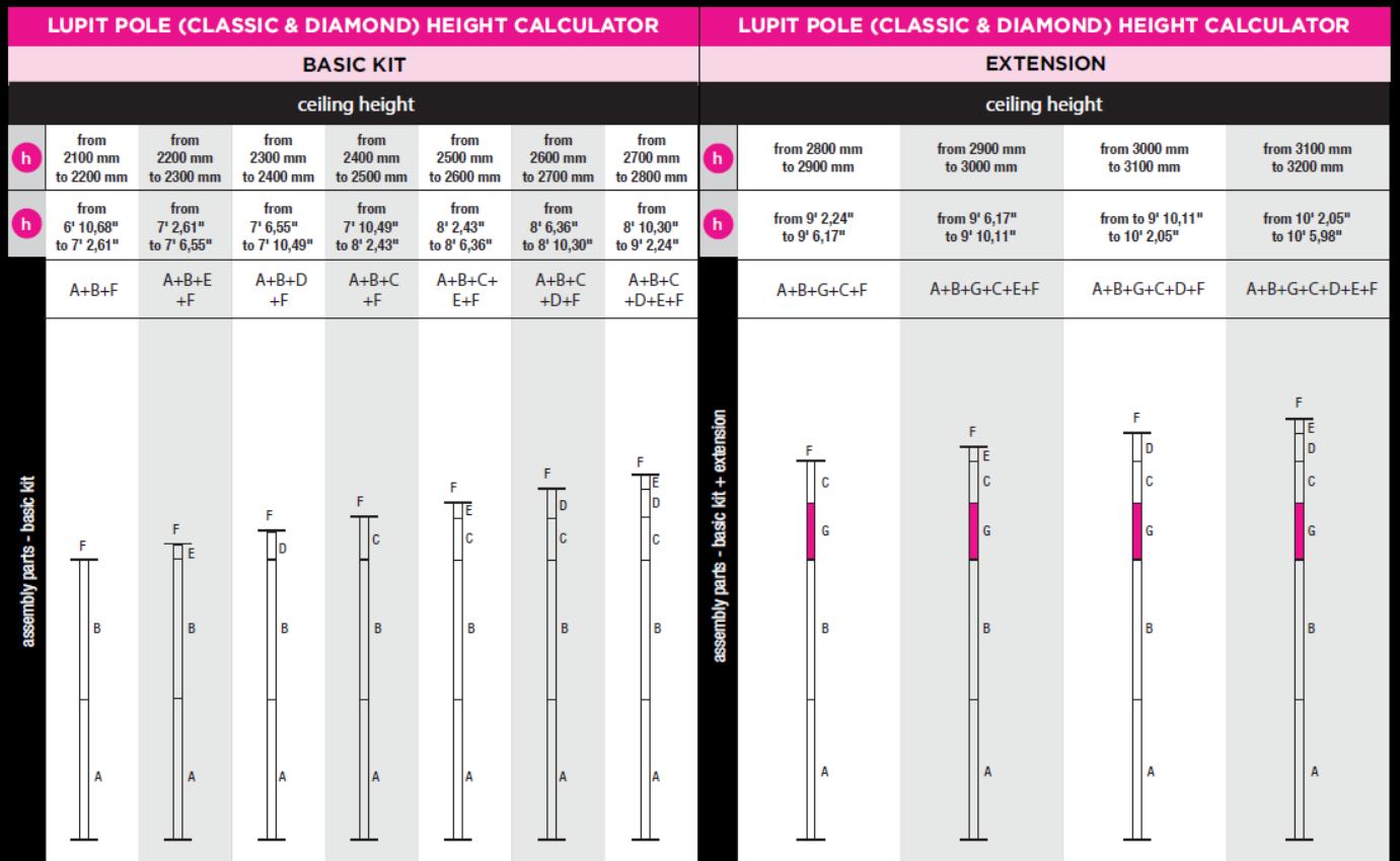 X-Pole Home-Mount verschraubbare Deckenhalterung Ihrer Pole Dance Tanzstange mit Durchmesser 45 mm