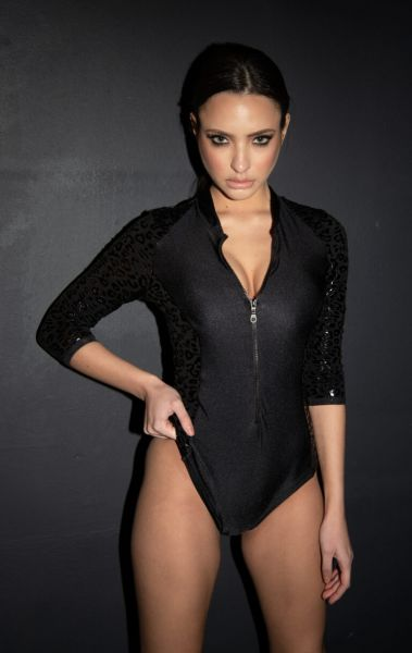 Ultra Grip Superhero Leopard Bodysuit