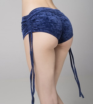 Side String Velvet Shorts - RAD Polewear