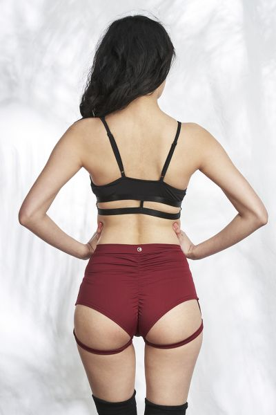 Lure You High Waist Garter Shorts - Lunalae